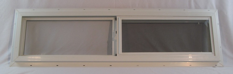 "48"" x 12"" Double Pane Horizontal Sliding Vinyl Window"