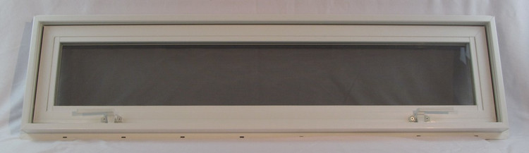 "42"" x 12"" Awning Transom Insulated Glass Vinyl Window"