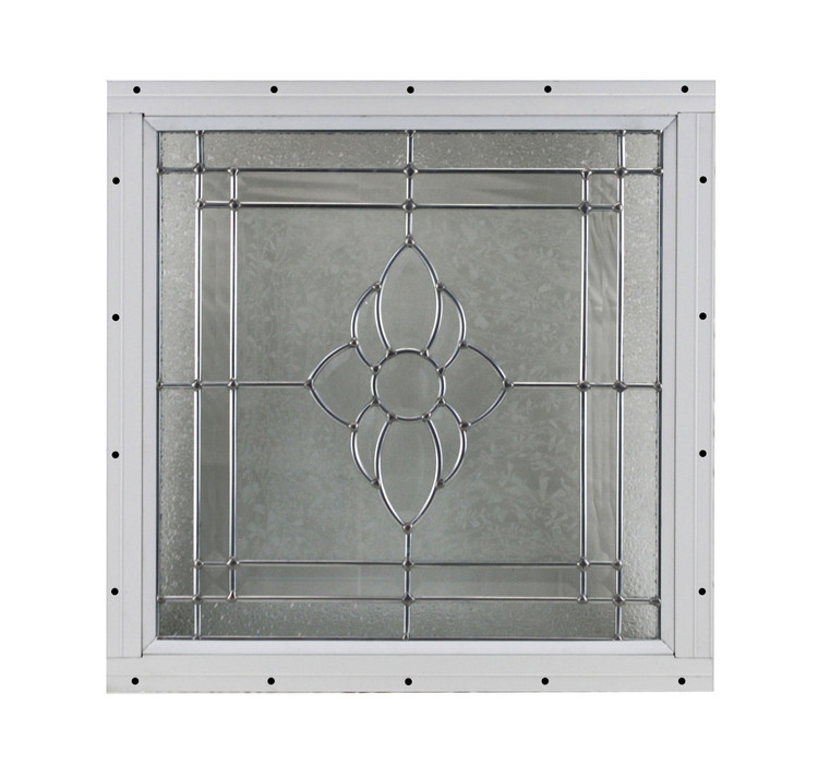 "16"" x 16"" Decorative Cut Glass Flush Mount Window"
