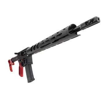 Prime - AR-15 Rifle Skeletonized w/ Red Accents (Black)