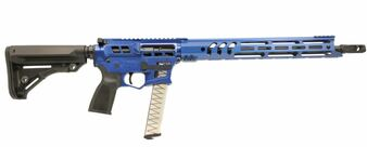 "BARRAGE - 9MM Rifle Skeletonized w/ 17"" Handguard (Blue)"