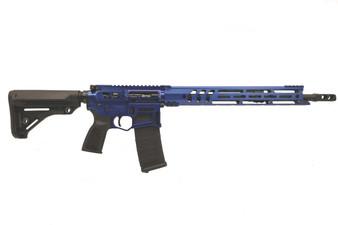 "BARRAGE - AR-15 Rifle Skeletonized (.223 Wylde) w/ 15"" Handguard (Blue)"