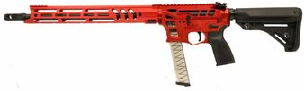 "Barrage - 9MM Rifle Skeletonized w/ 15"" Handguard (Red)"