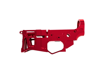 Lower Receiver - Skeletonized LSA-15 AR-15 (Red)
