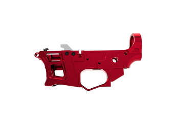 Lower Receiver - Skeletonized PCC /AR-9 LSA-9 (Red)