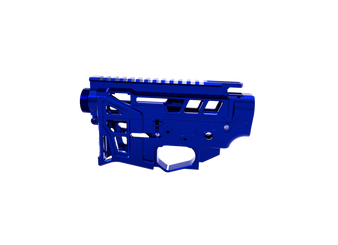 Receiver Set - Skeletonized LSA-15 AR-15 (Blue)