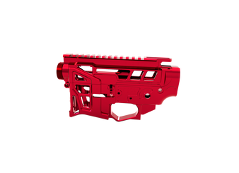 Receiver Set - Skeletonized LSA-15 AR-15 (Red)