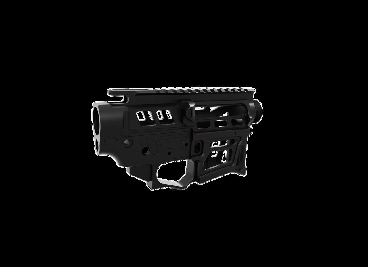 Receiver Set - Skeletonized LSA-15 AR-15 (Black)