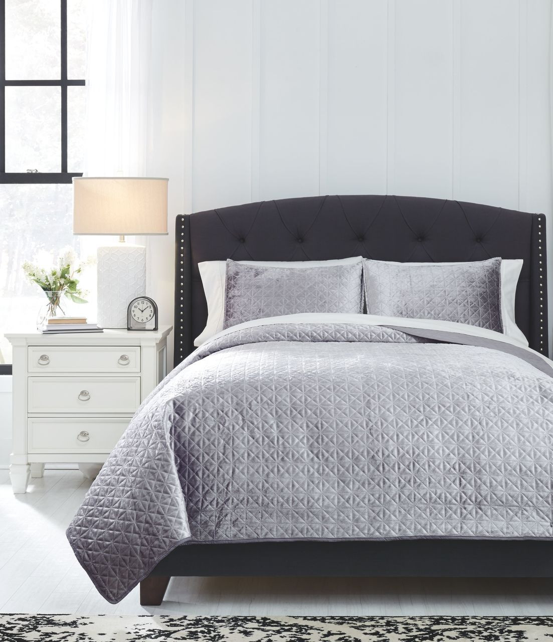 The Maryam Gray King Coverlet Set Available At Barnett And Swann In Athens Al