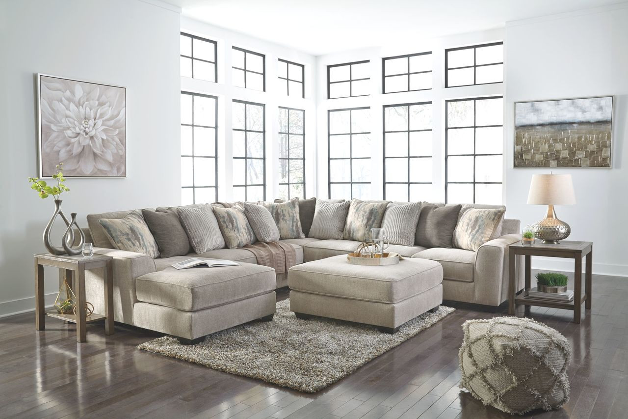 The Ardsley Pewter Laf Corner Chaise Armless Loveseat Wedge Raf