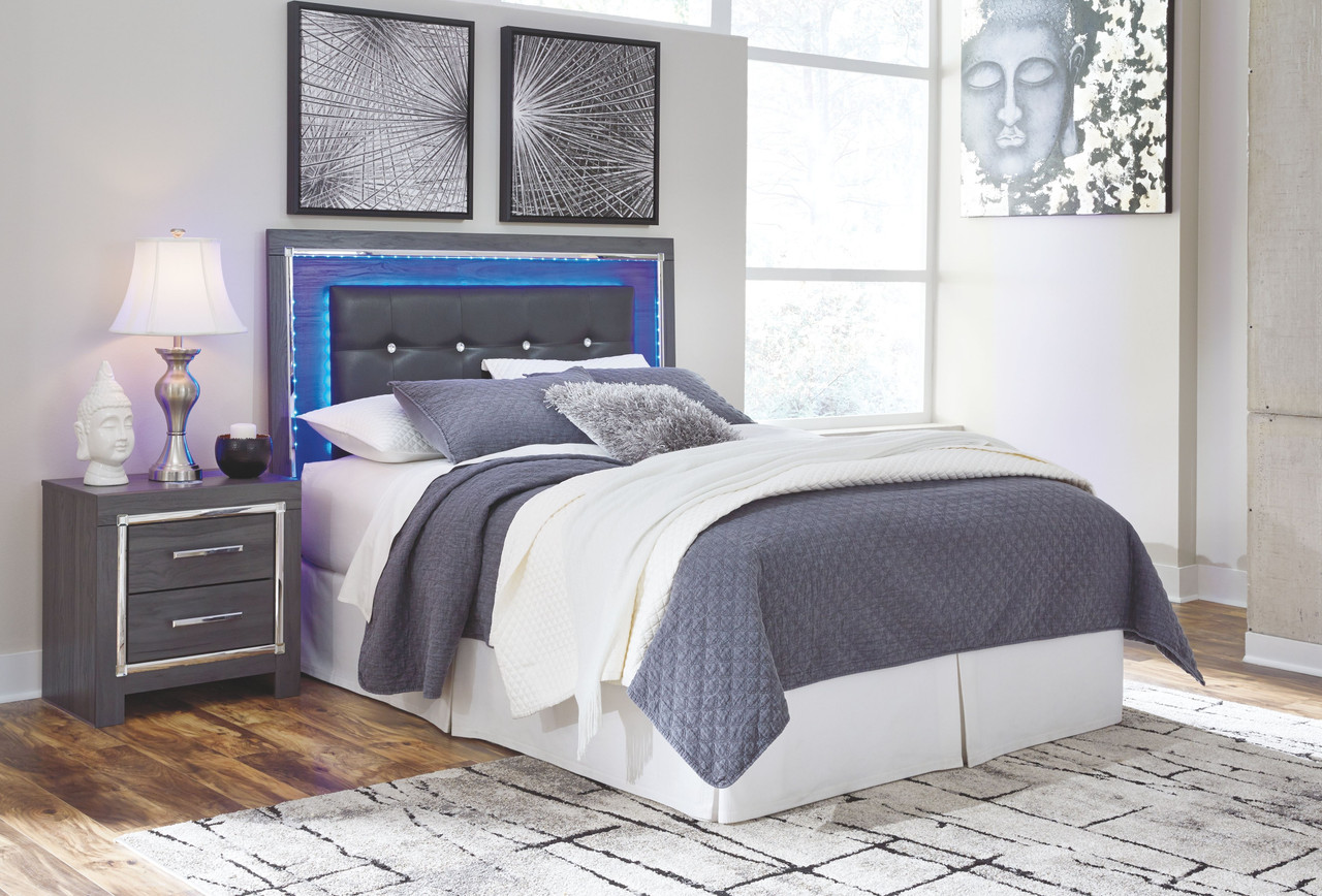 The Lodanna Gray Queen Upholstered Panel Hdbd With Bolt On Bed Frame Available At Barnett And Swann In Athens Al