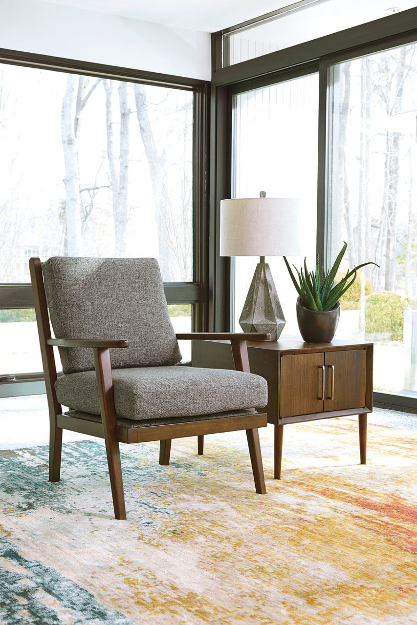 The Zardoni Charcoal Accent Chair Available At Barnett And