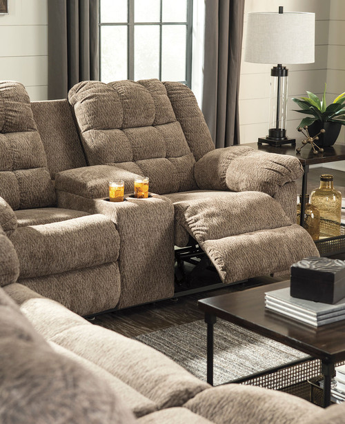 Phenomenal Workhorse Cocoa Reclining Sofa Double Reclining Loveseat With Console Andrewgaddart Wooden Chair Designs For Living Room Andrewgaddartcom