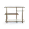 Marble, Glass and Brass Console Table