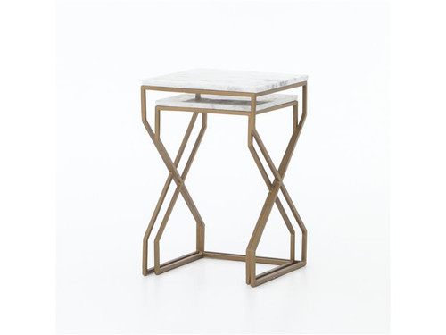 Geometric Marble Nesting Tables