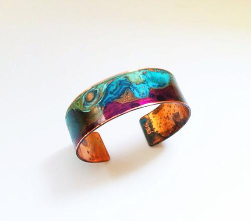 Narrow Copper Patina Cuff