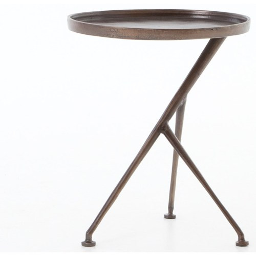 Asymmetrical Tripod Side Table