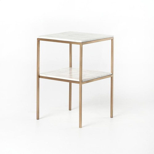 Two-Tier Marble Side Table