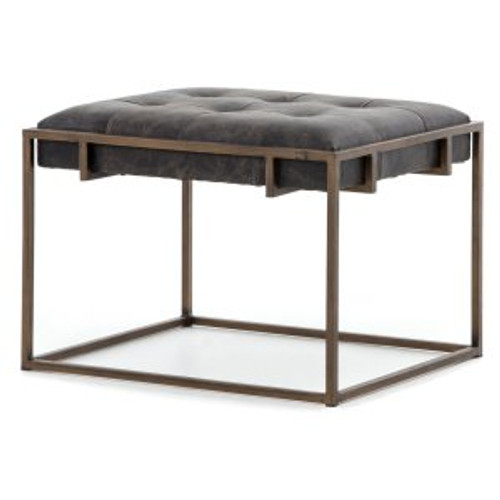 Tufted Leather Side Table or Seat