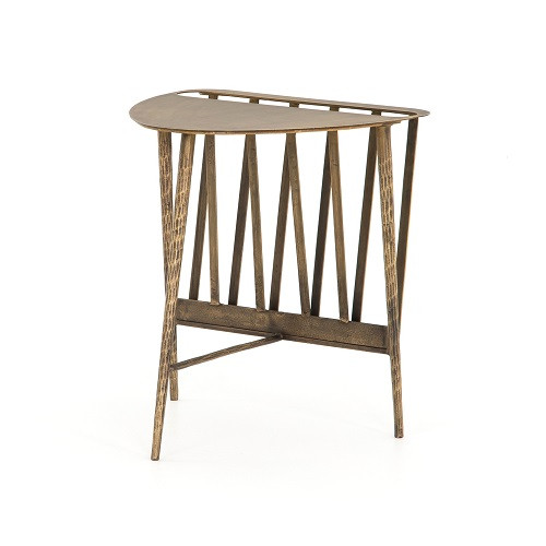 Wedge shaped end table