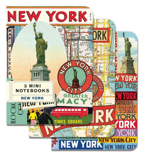 New York City- set of 3 Small Notebooks