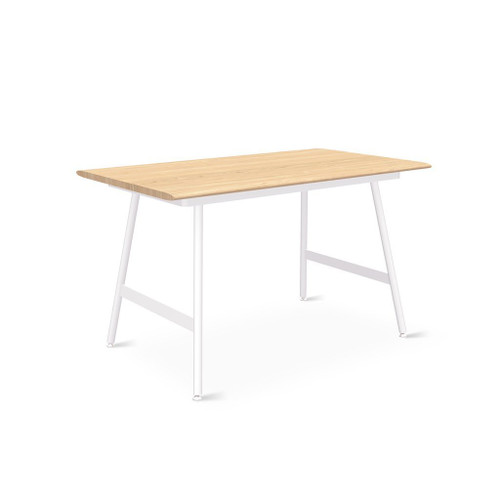 """50"""" Blonde Ash Desktop with White Lecture Legs"""