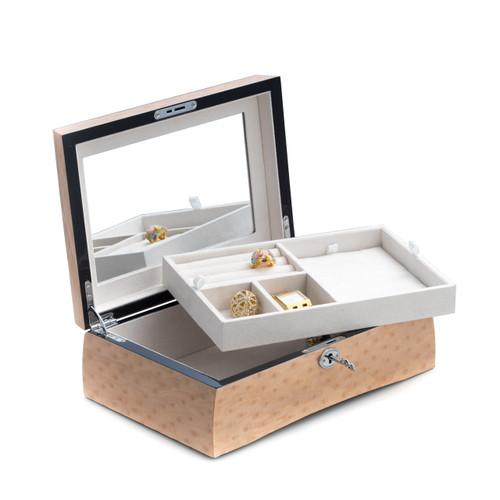 Burl Wood Deco Jewelry Box