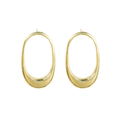 Mezi Stud Gold Plated Earrings