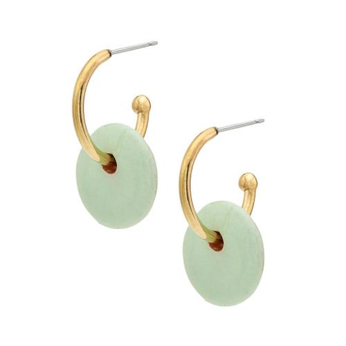 Kazuri Mini Disc Hoop Earrings