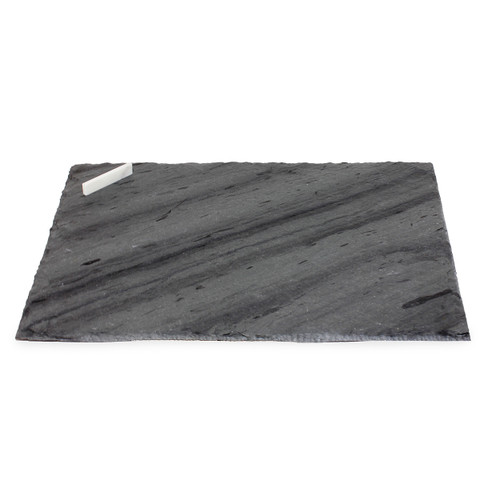 Square Slate Cheese or Serving Board with Chalk