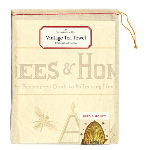 Vintage Tea Towel Bees & Honey