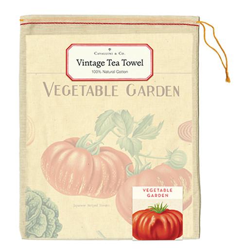 Vegetable Vintage Tea Towel