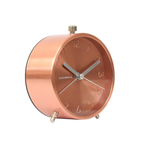 Glam Copper Face Alarm Clock