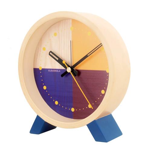 Desk Clock Flor Blue