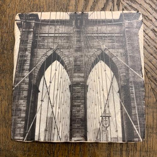 Brooklyn Bridge Marble Coasters