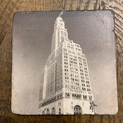 Exclusive Williamsburg Bank Marble Coasters