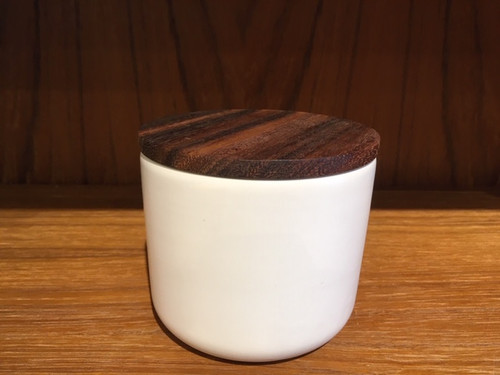 Medium White Ceramic Canister