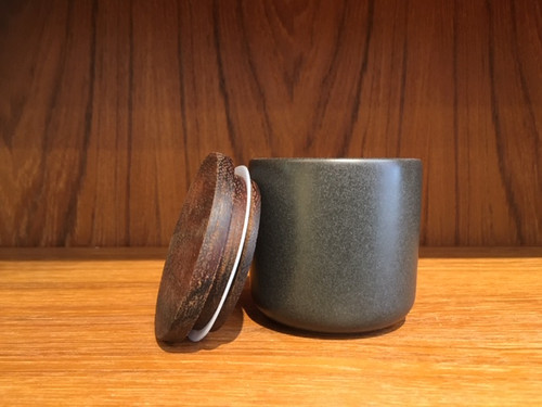 Small Charcoal Ceramic Canister