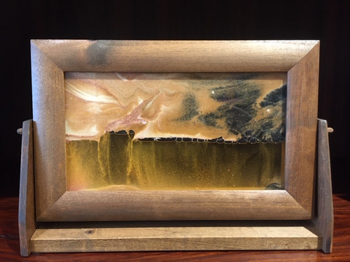 9 x 12 Alder wood Framed Sand Art