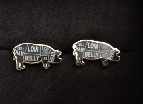 Pork Butcher Cut Cufflinks