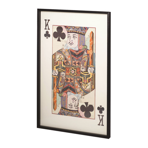 King of Clubs Collage Wall Art