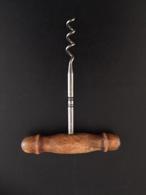 Vintage Wooden T Handle Corkscrew