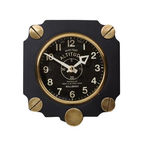 Black Altimeter Wall Clock