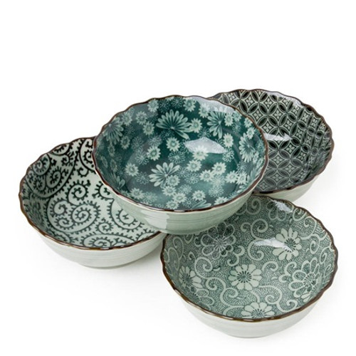 Antique Green Bowl Set