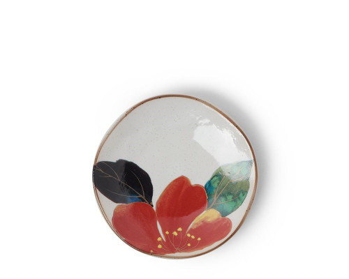 Mini Floral Red Plate