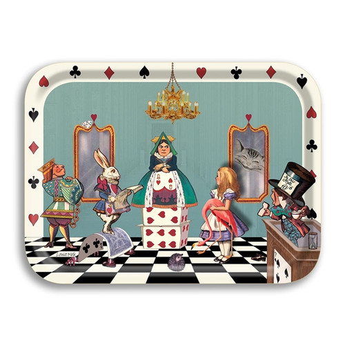 Alice in the Hearts Court Birch Wood Tray