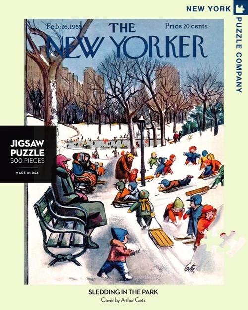 New Yorker: Sledding in the Park