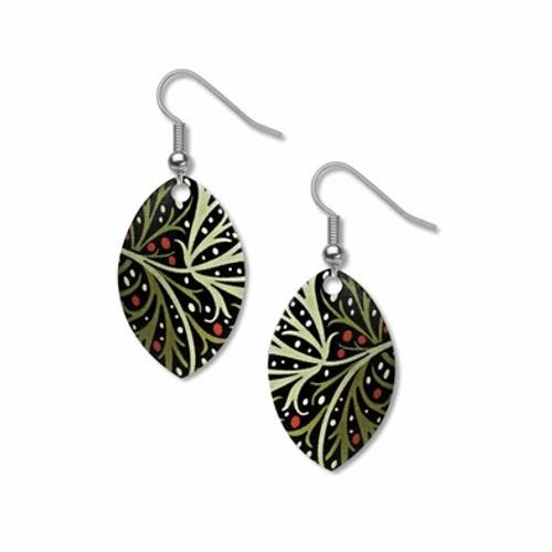 William Morris Seaweed Earrings