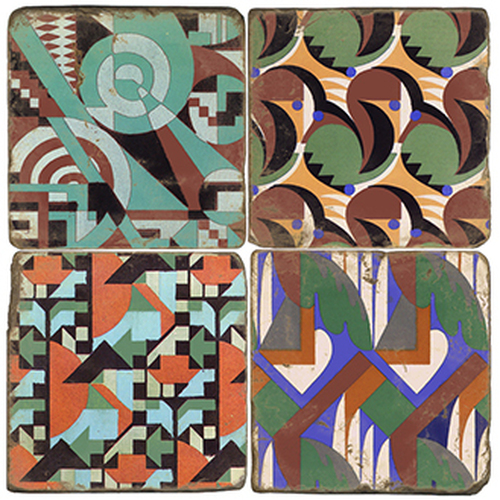 Geo Design Marble Coasters