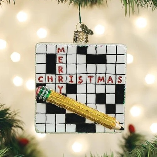 Crossword Ornament
